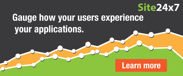 Site24x7: Gauge real users' application experience