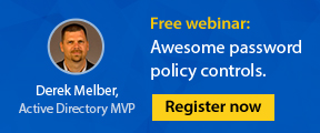 Free webinar: Awesome password policy controls. Register now
