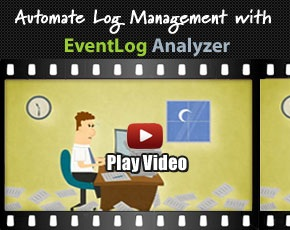 ManageEngine at Oracle Open Automate Log Management with EventLog Analyzer