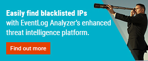 Easily find blacklisted IPs with EventLog Analyzer enhanced thread intelligence platform