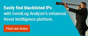 Easily find blacklisted IPs with EventLog Analyzer enhanced thread intelligence platform