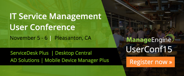 You are invited to the IT Service Management UserConf15