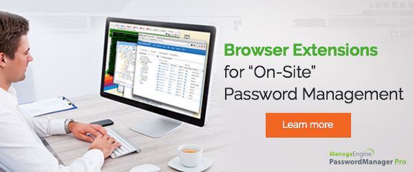 Introducing the Password Manager Pro browser extension for on-site password management.