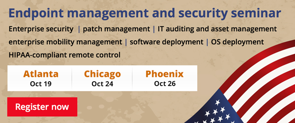 Register for our US endpoint management and security seminar.