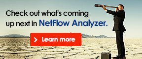 Check out what's coming up next in NetFlow Analyzer. Learn more.