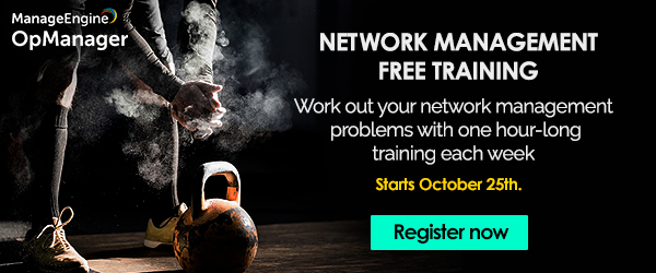 Free network management training webinar