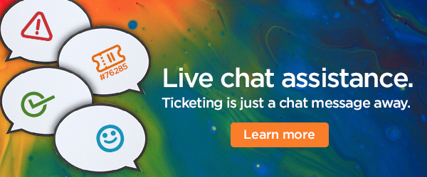 Log, receive, and resolve tickets via chat