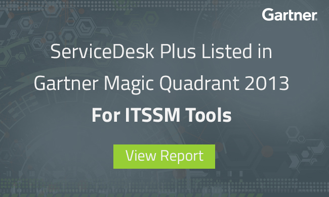 SDP - Gartner Magic Quadrant 2013 for ITSSM Tools