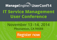 ManageEngine User Conference on IT Service Management