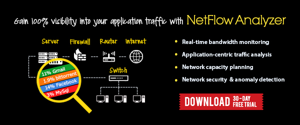 Clear application traffic bottlenecks with NetFlow Analyzer!