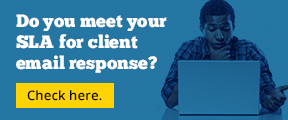 Do you meet your SLA for client email response