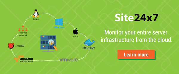 Monitor your entire server and app stack with Site24x7.