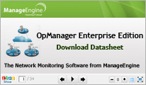 OpManager Enterprise Edition - Download Datasheet