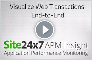 Site24x7 APM Insight