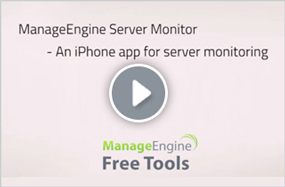Windows Server & Services Monitoring - ManageEngine iPhone App